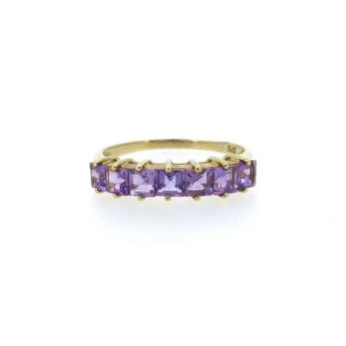 Amethyst Seven Stone Ring