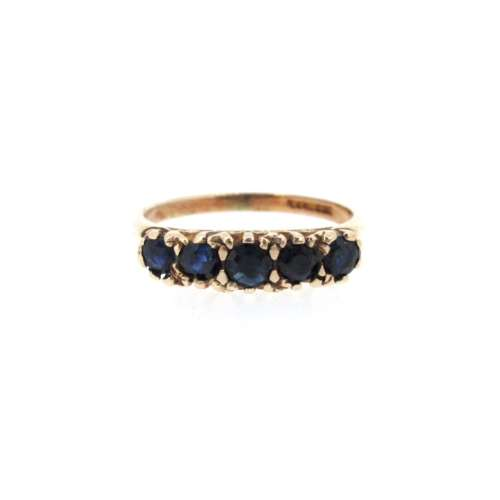 Sapphire Five Stone Ring