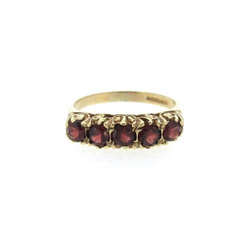 Five Stone Garnet Ring