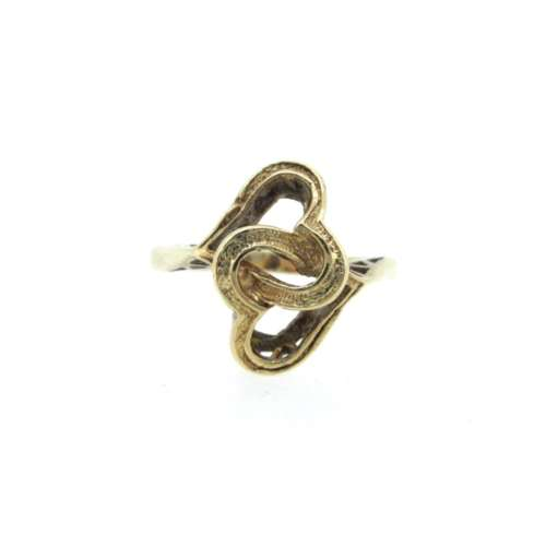 Entwined Hearts Gold Ring