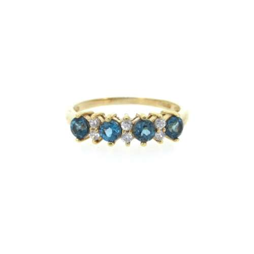 Cubic Zirconia Gold Ring