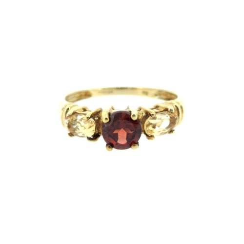 Citrine & Garnet Ring