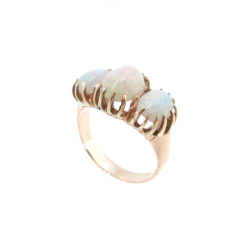 Antique Rose Gold Opal Ring