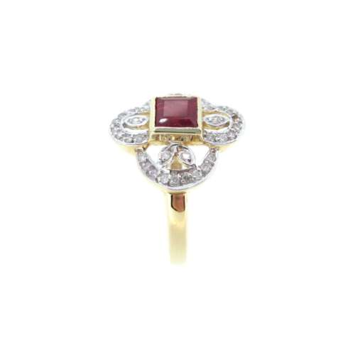 Ruby & Diamond Vintage Style Ring